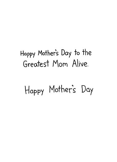 Zombie Moms Mother's Day Ecard Inside