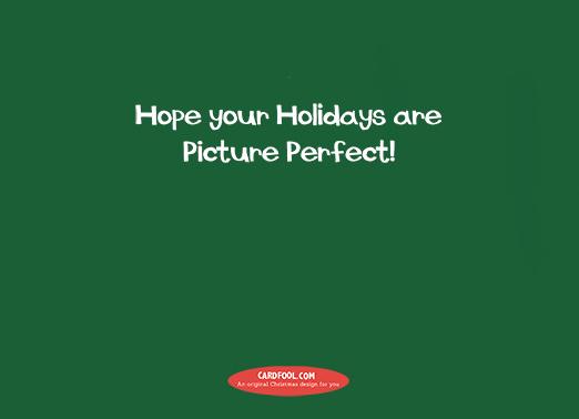 santa selfie horiz kids Christmas Card Inside