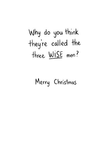 the Wise Men Christmas Ecard Inside